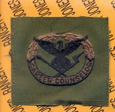 US Army Career Counselor OD Green & Black badge cloth patch