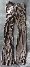 RICK OWENS Zipped BIAS Pants 8 US 42 IT Soft ITALY Reg $1,220 Flowing Draping