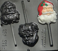 "Santa 3"" x 3 1/2"" Lollipop Chocolate Candy Mold Christmas 2117 NEW"