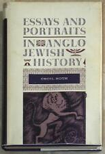 ESSAYS AND PORTRAITS IN ANGLO JEWISH HISTORY ~ CECIL ROTH ~ 1962 HC ~ 1st ED