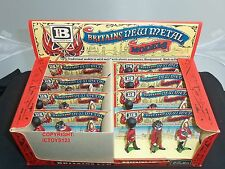 BRITAINS 7223 8 SETS OF CEREMONIAL METAL TOY SOLDIER FIGURES IN TRADE BOX