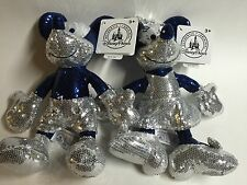 DISNEYLAND 60th ANNIVERSARY DIAMOND CELEBRATION SEQUIN MICKEY & MINNE! FREE SHIP
