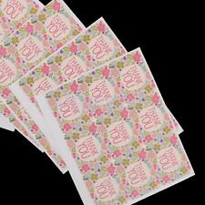 """90pcs Paper Labels """"Thank you"""" Gift Food Craft Stickers Packing Tags Seals"""