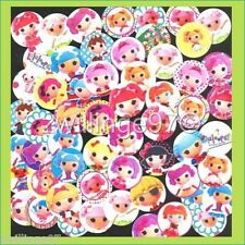 100 Precut assorted LALALOOPSY DOLLS BOTTLE CAP IMAGES Variety 1 inch discs