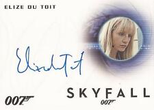"James Bond Archives 2014 - A255 Elize du Toit ""Vanessa"" Auto / Autograph Card"