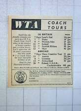 1960 Wta Coach Tours Gillingham St Victoria Britain And Abroad Prices