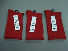 NWT Women's Hue Metallic Roll Top Socks One Size Apple Red 3 Pair #40J