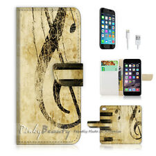 iPhone 7 (4.7') Flip Wallet Case Cover P0363 Music Note