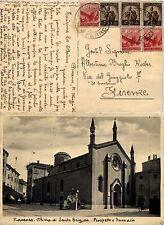 RE DI MAGGIO 15.5.1946-tre 20c+tre 80c Democratica(544+549)-Cartolina Piacenza