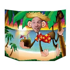 Luau Monkey Photo Prop - 94 x 64 cm - Hawaiian Beach Party Cutouts & Standins