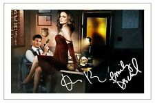 DAVID BOREANAZ & EMILY DESCHANEL BONES SIGNED PHOTO PRINT AUTOGRAPH