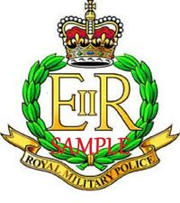 ROYAL MILITARY POLICE COLOURED BADGE Transfers/Decals - WATER TRANSFER 5 x 5cm