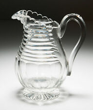 Antique Victorian/Edwardian Cut Glass Jug - Georgian Irish Design