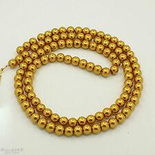 500 Glaswachsperlen 8mm metallic gold neu Perlen Glasperlen Grosshandel Konvolut
