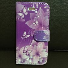 Flip Wallet Vintage Flower Leather Case Cover For Apple iPhone Models