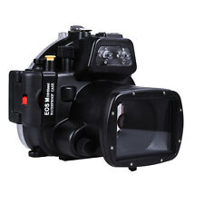 40M Waterproof Housing Hard Case Shell for Canon EOS M EOSM Camera 18-55mm Lens