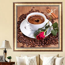 Coffee Cup Diamond Embroidery Diy Needlework 5D Painting Cross Stitch Crafts