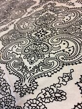 Viscose Elastane White Geo Paisley Print Jersey Stretch Dressmaking Fabric