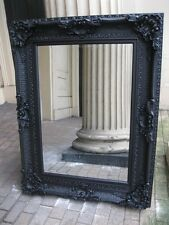 VERSACE MATT BLACK BOUDIOR LARGE HUGE FRENCH LEANER WOOD DRESS MIRROR 6FT x 3FT