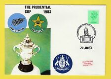 CRICKET - STAMP COVER - PRUDENTIAL CUP -  NEW  ZEALAND  V  PAKISTAN  -  1983