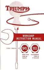 Triumph Manual Pre-unit Motorcycle Thunderbird T100 T110 T120 3T 1945-1955
