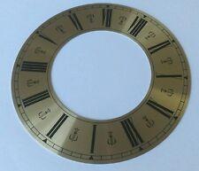 Horloge chapitre/heure anneau en laiton de couleur aluminium roman 158mm extérieur 89mm intérieur