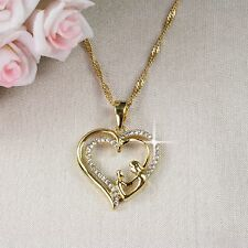 N1 18K Gold Filled Mother and Child Heart Necklace & Pendant - Gift boxed