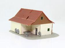 H0 Schlosserei Schmiede Geräteschuppen fertig aufgebaut