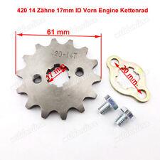 420 14 Zähne 17mm ID Vorn Engine Kettenrad für ATV Quadmotor Pit Dirt Bikes