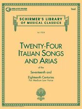 24 Italian Songs and Arias Medium Low Voice Book and Audio NEW 050481593
