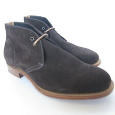 W-1455151 New Church's Mens Brown Booties Suede Chukka Shoes Marked Size 70 US 8