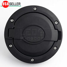 Unlimited Black Fuel Filler Oil Gas Door Cover Tank Cap For 07-16 Jeep Wrangler