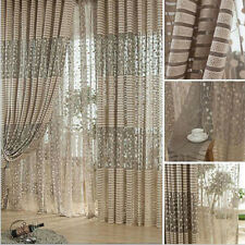 Hot Jacquard Warp Knitting Curtains For Window Living Room Sun-shading Curtain