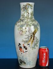FABULOUS ANTIQUE CHINESE FAMILLE ROSE PORCELAIN VASE MARKED LIU YUCEN V7656