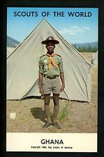 Scouting postcard chrome Boy Scouts of the World 1968 Series Ghana