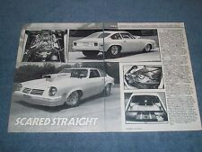 """1975 Chevy Vega Drag Car Article """"Scared Straight"""""""