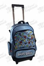 "16"" Angry Birds Backpack Teen Boys Large Rolling Backpack - Teal"