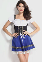 Womens Oktoberfest beer maid costume fancy dress outfit 8-10-12-14-16-18-20