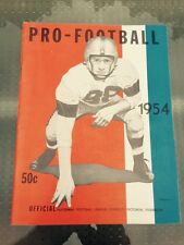 Pro-Football Yearbook-NFL-1954-photos-info-Excellent Condition