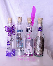 100 Quinceanera Wedding Plastic BOTTLE Party Invitations Mask-Feathers-Zebra ANY