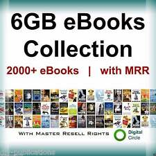 2,000 eBooks Collection with Resell Rights PLR Free Shipping plus Bonus U.S.A.