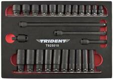 "Trident 26pc Impact Socket Set 3/8"" Dr  Standard & Deep with Extensions and U/J"