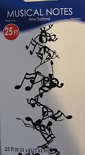 WIRE MUSIC NOTE GARLAND