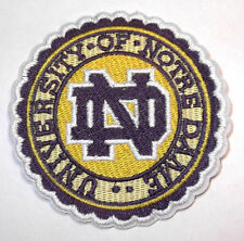 University Of Notre Dame Logo Patch NCAA College Iron / Sew On Fighting Irish