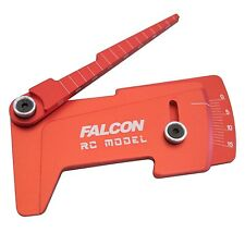 Cnc aluminum suspensión ride height & Camber gauge Tool red for 1/10 RC Car