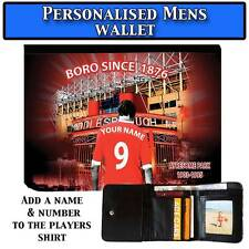 Mens Unoffical Personalised MIDDLESBROUGH Football Wallet Gift