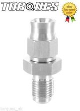 """AN-3 (3AN JIC- 3) Hose to 3/8""""x24 UNF Male Straight Stainless Steel Hose Fitting"""