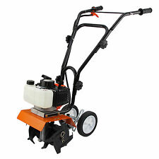 52cc Garden Mini Tiller 3HP Petrol Power Soil Cultivator 2-Stroke Engine Tool