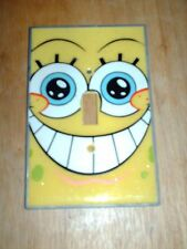SPONGEBOB SQUAREPANTS METAL LIGHT SWITCH COVER WITH SCREWS -SINGLE SWITCH PLATE