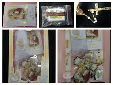 New First Communion 7pc Gift Set Girls Spanish Rosary/Candle/Missal/Armband/SALE